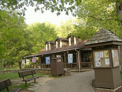 In the above photo is the Visitors Center at Carter Caves State Park. If you're in the area in the summer months be sure to visit the park.