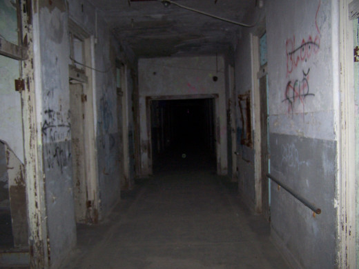 Inside The Waverly Hills Sanatorium In One Of The Halls.