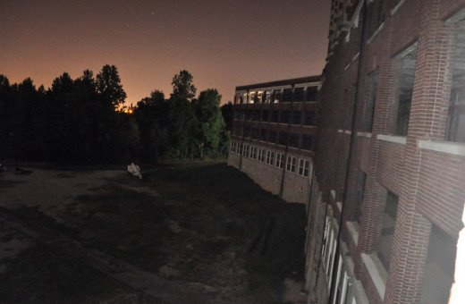 Great outdoor sunset photo at Waverly Hills Sanatorium.