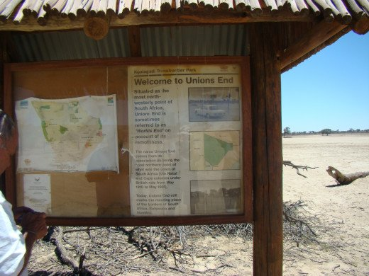 World's End, Kgalagadi -visiting with friends