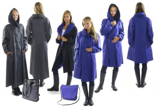 Mycra Pac Donatella Travel Raincoat in Long and Tea Length.