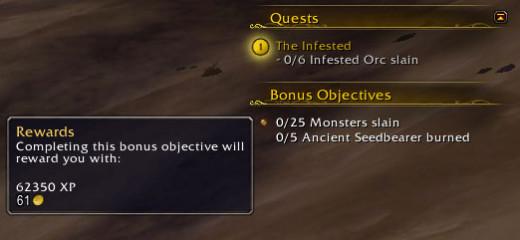 Bonus Objectives in WoW