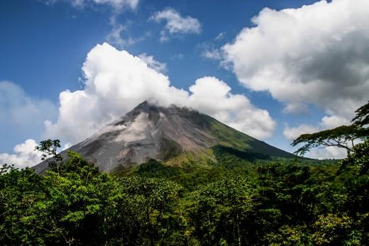 Arenal Volcano, Costa Rica. Oct 15, 2009.