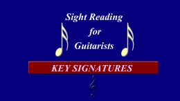 Sight reading for Guitarists - Key Signatures