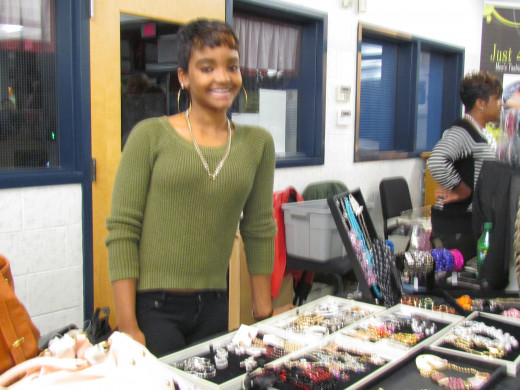 A variety of accessories were featured by Mary Ray and Cyrena Malloy, the Independent Sales Director.