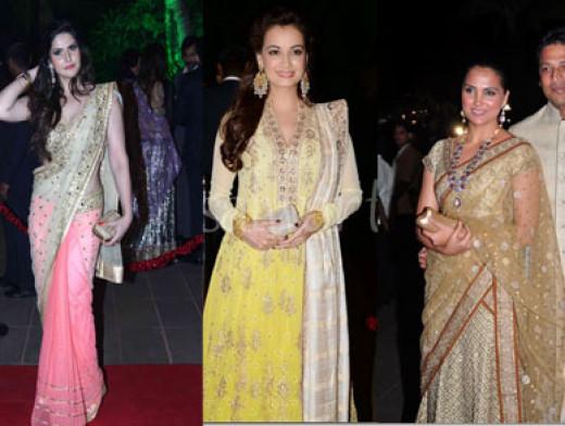 Stunning Bollywood Stars at the Reception