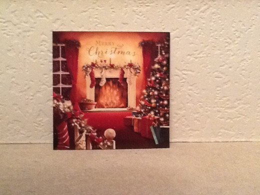 Christmas Card with Christmas Scene