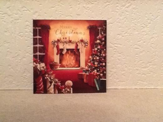 Christmas Card with Christmas Scene