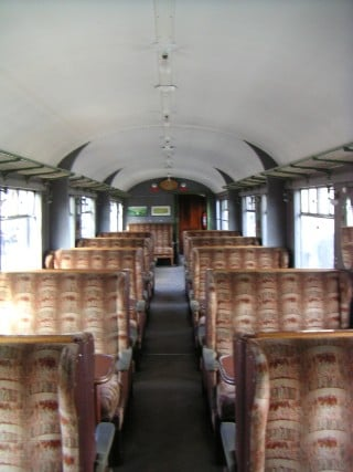 Interior, York-built Gresley LNER open seen on the Severn Valley Railway and the North Yorkshire Moors Railway