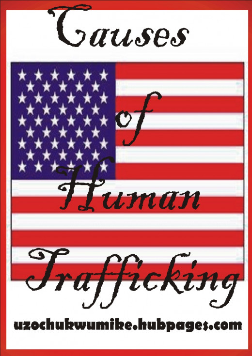 Causes of human trafficking. The picture shows causes of human trafficking in United States of America.