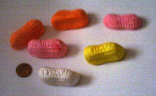 Circus Peanuts come in a variety of colors.