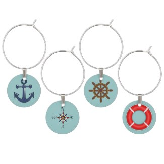 CruiseReady is a contributor and affiliate at Zazzle, where you can find these wine glass charms.