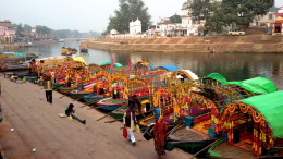 Mandakini river at Chitrakoot Dham