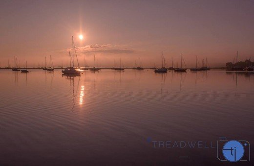 Peaceful sailboats dot the bay a short walk from the Sag Harbor Inn.