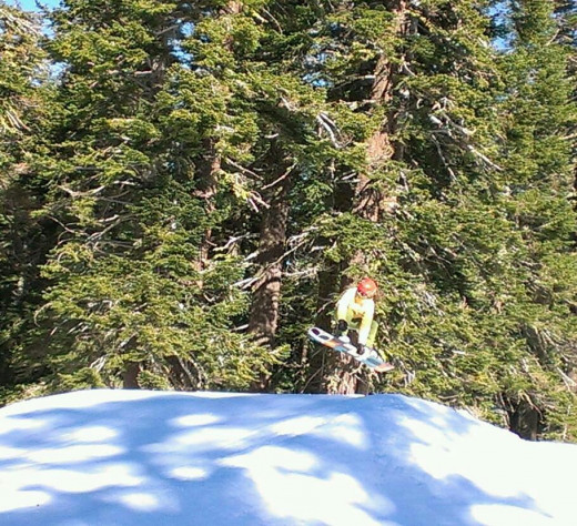 Snowboarding in the Sierra Nevada's!