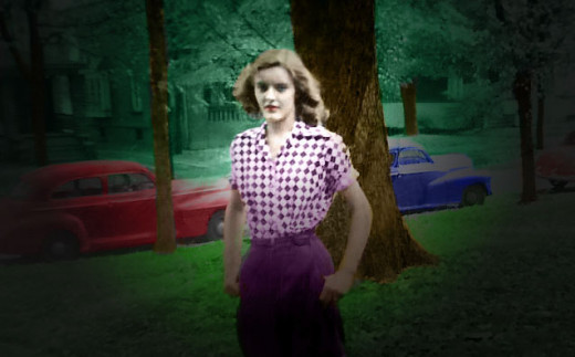 My Mother when she was young. (My friend, Jackie Lynnley on HubPages, repaired and added color to the photo.)