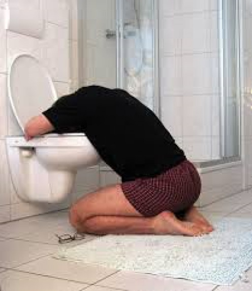 """The """"Holing Your Head in The Toilet"""" Game."""