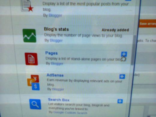 Blogger Gadgets