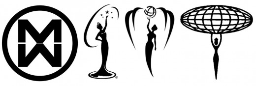 The Big Four beauty pageants logos