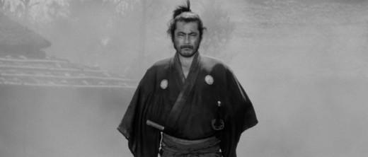 The hygienically-challenged Sanjuro (Toshirō Mifune) heads for a showdown in Akira Kurosawa's Yojimbo (1961)