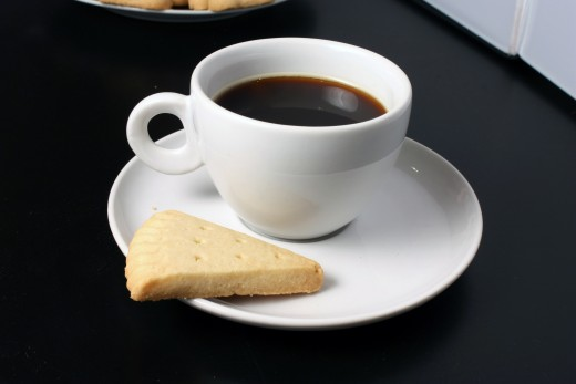 Coffee with a petticoat tail is nice, but I think that tea with shortbread makes a delicious snack.
