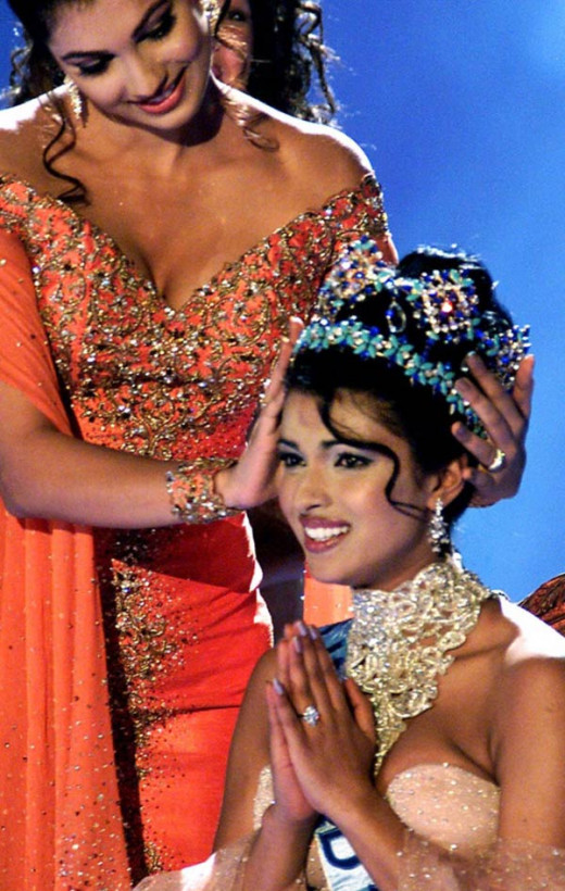 Priyanka Chopra at Miss World 2000