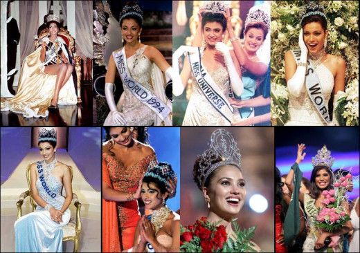 Beauty Pageant Winners from India