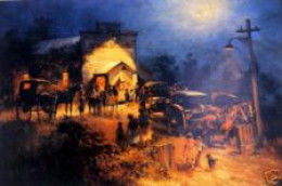 Midnight Mass: painting by D'Arcy Doyle