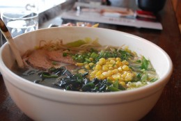 Soup with wakame