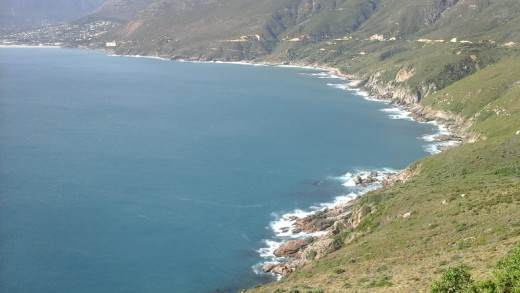 View on Houtbaai from Chapmans' Peak, South Africa