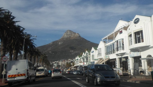From Llandudno to Sea Point via Clifton, Cape Town, South Africa - view on Signal Hill