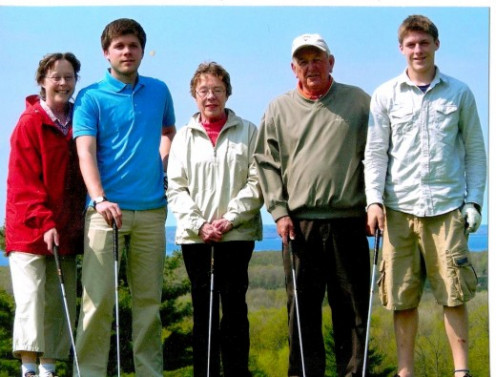 Sandy, my late wife, our sons and Sandy's parents.