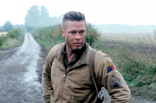 Pitt's performance in Fury is well praised