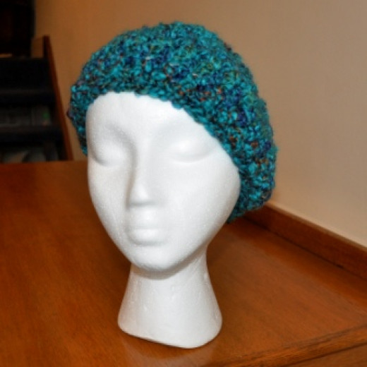 crocheted beannie hat
