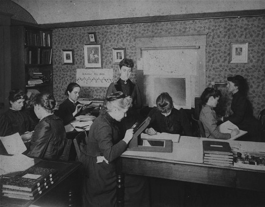 """Pickering's Harem,"" so-called, for the group of women computers at the Harvard College Observatory, who worked for the astronomer Edward Charles Pickering. The group included Harvard computer and astronomer Henrietta Swan Leavitt."