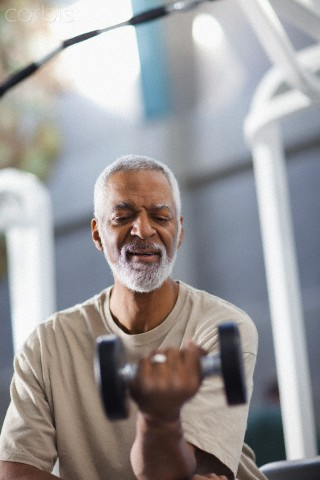 Sometimes, gray hair forces a man to start exercising and getting into shape
