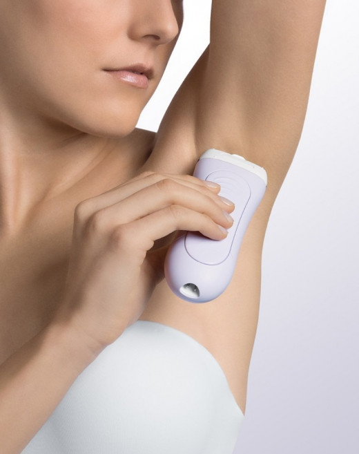 The Braun LS 5560 is well suited for shaving the armpits.