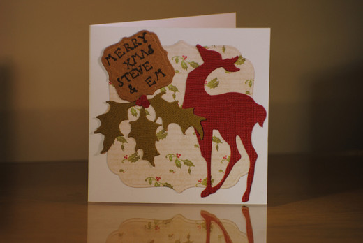 Beautiful, personalised cards can be made at home from a wide range of materials.