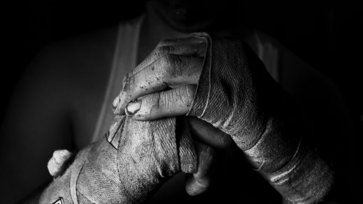 Always wrap your hands before boxing to help prevent broken hands and knuckles.