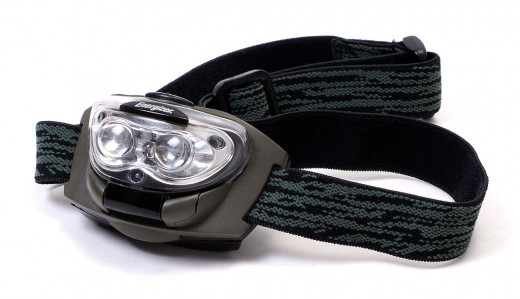 Headlamps we've found much more useful than flashlights. We know there are super fancy ones out there. Our suggestion: find one on sale if you are going to buy name brand.