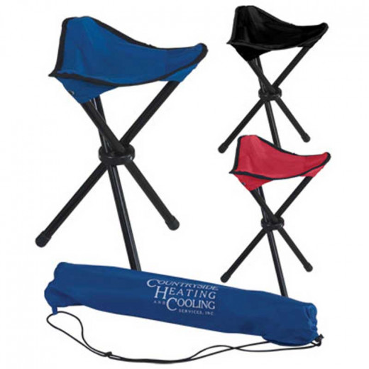 We have off-brand and dirt cheap tripod camping chairs. You can sit on your gear, which works fine as a camp chair - we did for a long time. Having a chair though is pretty awesome.