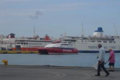 Our SeaCat transportation arrives!
