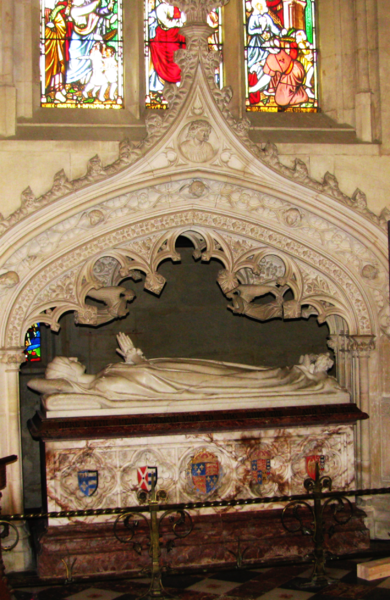 Katherine Parr's tomb at Sudeley Castle.