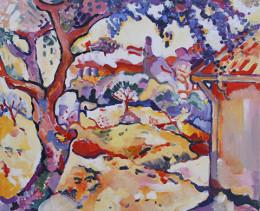 """Braque, """"Olive Tree near Estaque"""", 1906. Oil on Canvas"""