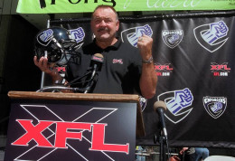 Aug. 23, 2000, Butkus talks about his XFL football team, started by WWE chairman, Vince McMahon, and his job as coach as the Chicago Enforcers