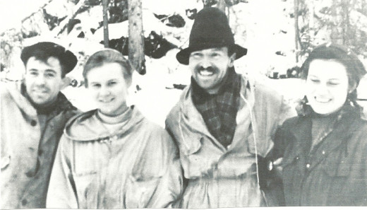 "The nine hikers who died in the ""Dyatlov Pass Incident"" in the Ural Mountains included (from left) Nicolai Thibeaux-Brignolle, Lyudmila Dubinina, Semyon Zolotarev and Zina Kolmogorova."