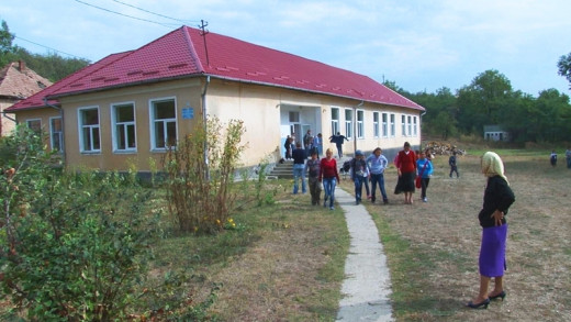 This is a school in a village in Romania.