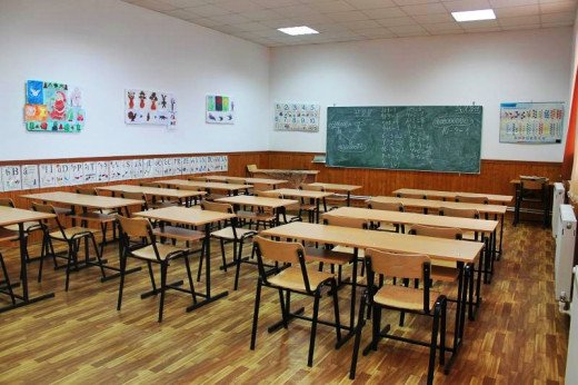 This is how a classroom from a modernized school from the rural areas of Romania looks like. In other schools is worse.