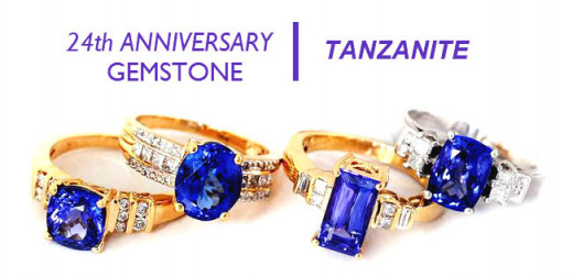 24th Wedding Anniversary Gift Ideas: Tanzanite - 24th Anniversary Gemstone