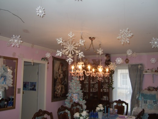 Our ceilings decorated with snowflakes